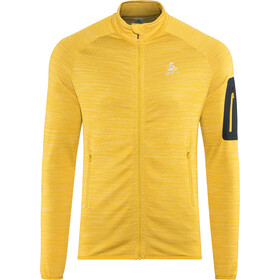 Odlo Steam Full-Zip Midlayer Herren lemon curry melange